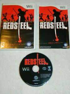 Red-Steel-Nintendo-Wii-2006-Disc-Book-Case-Free-Shipping-Tested