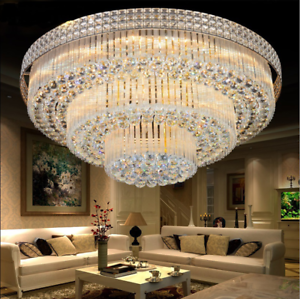 Details About 3 Levels K9 Crystal Ceiling Lamp Chandelier Home Decor Lighting Fixture Us Ship