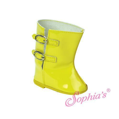Black Patent Buckle Rain Boots 18 in Doll Clothes Fits American Girl Dolls