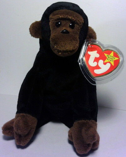 CONGO™ THE GORILLA Ty™ 5TH GEN BEANIE BABY 1996  RETIRED MINT TAGS VERY RARE