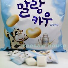 LOTTE Korean Food Soft chewing candy Malang Cow Fresh Milk Marshmallow 158g