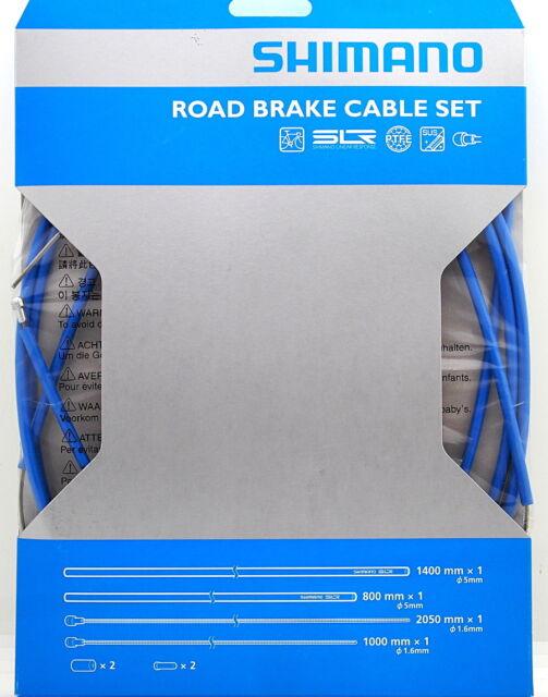 Shimano PTFE SIL-TEC Road Bike Brake Cable Housing Set Blue