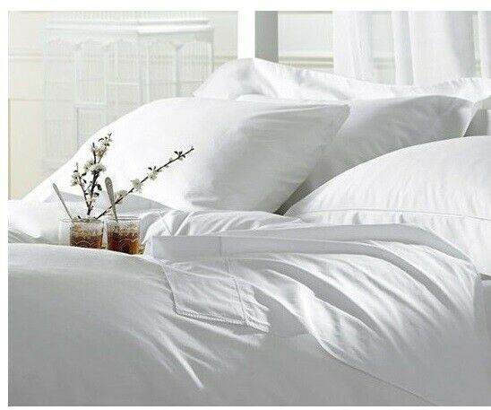 400TC 100/%EGYPTIAN COTTON SHEET SET//DUVET//FITTED//FLAT  US SIZE COLOR WHITE SOLID