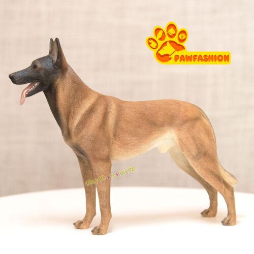 Pawfashion 1//6 belga Malinois Statua in Piedi Dog modello in resina accessori giocattoli