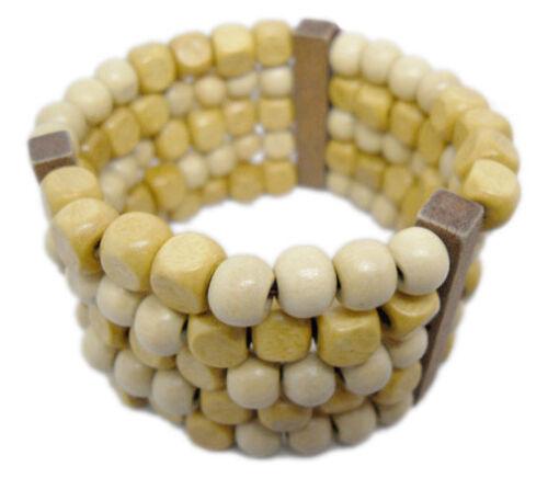 M1020 Fashion Jewelry New Bois Charme 5 rangées de perles chaîne Stretch Bracelet