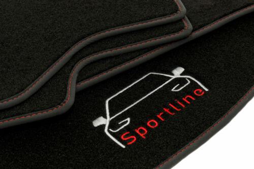Passgenau SPORTLINE Velour Fußmatten Satz für Audi A1 8X 2010-2018