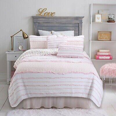 Petri Ruffle Lace Cotton 100/%Cotton Quilt Set Bedspread Coverlet