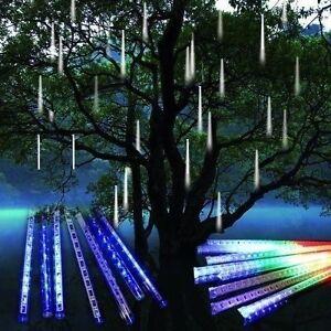 50cm 256 Led Meteor Shower Lights Rain 8 Tubes Fairy