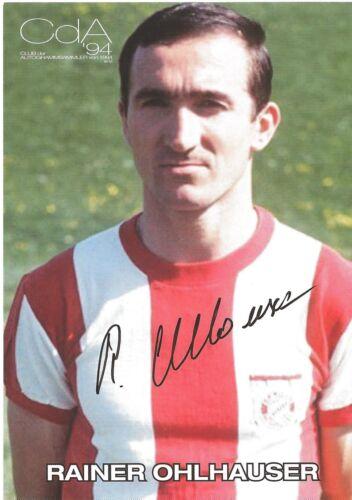 Autogramm Rainer Ohlhauser Fußball FC Bayern München HSV Borussia Dortmund läng#