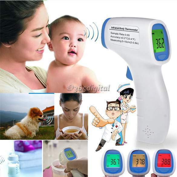 Backlight Multi-function Digital Non-contact Infrared Forehead Body Thermometer