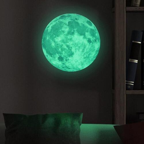 Moon Wall Sticker Luminous Glow in the Dark Home Decor Room Decal Art DIY N3