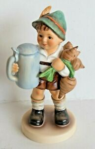 GOEBEL-HUMMEL-FIGURINE-034-FOR-FATHER-034-HUM-87-TMK7-GERMANY-BOY-W-STEIN-w-BOX-MIB