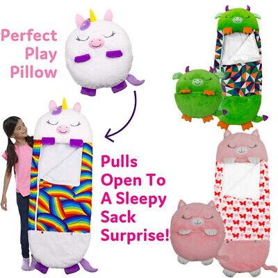 Happy Nappers Sleeping Bag Kids Boys Girls Play Pillow Unicorn Dragon hot
