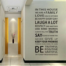 Removable Vinyl Decal Art Mural Family Home Living Room Quote Wall Sticker WWE