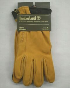 Timberland Mens Nubuck Suede Leather Touch Screen Tip Technology 5 Finger Gloves