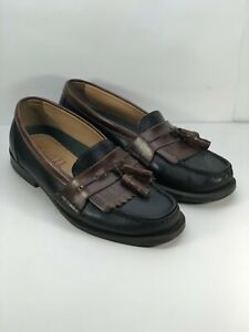 Borelli-Wes-Kilti-slip-on-tassel-leather-black-cordovan-loafers-mens-size-7-M