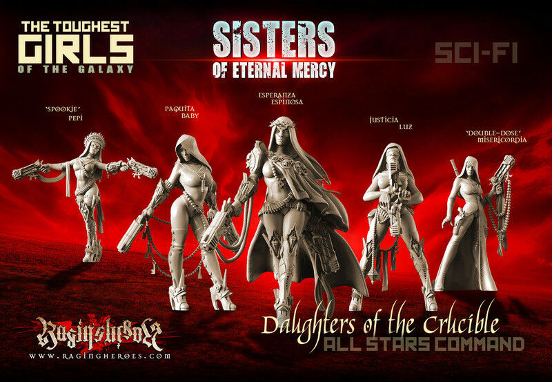 Raging Heroes - Daughters of the Crucible - All Stars Command Group - Sisters of