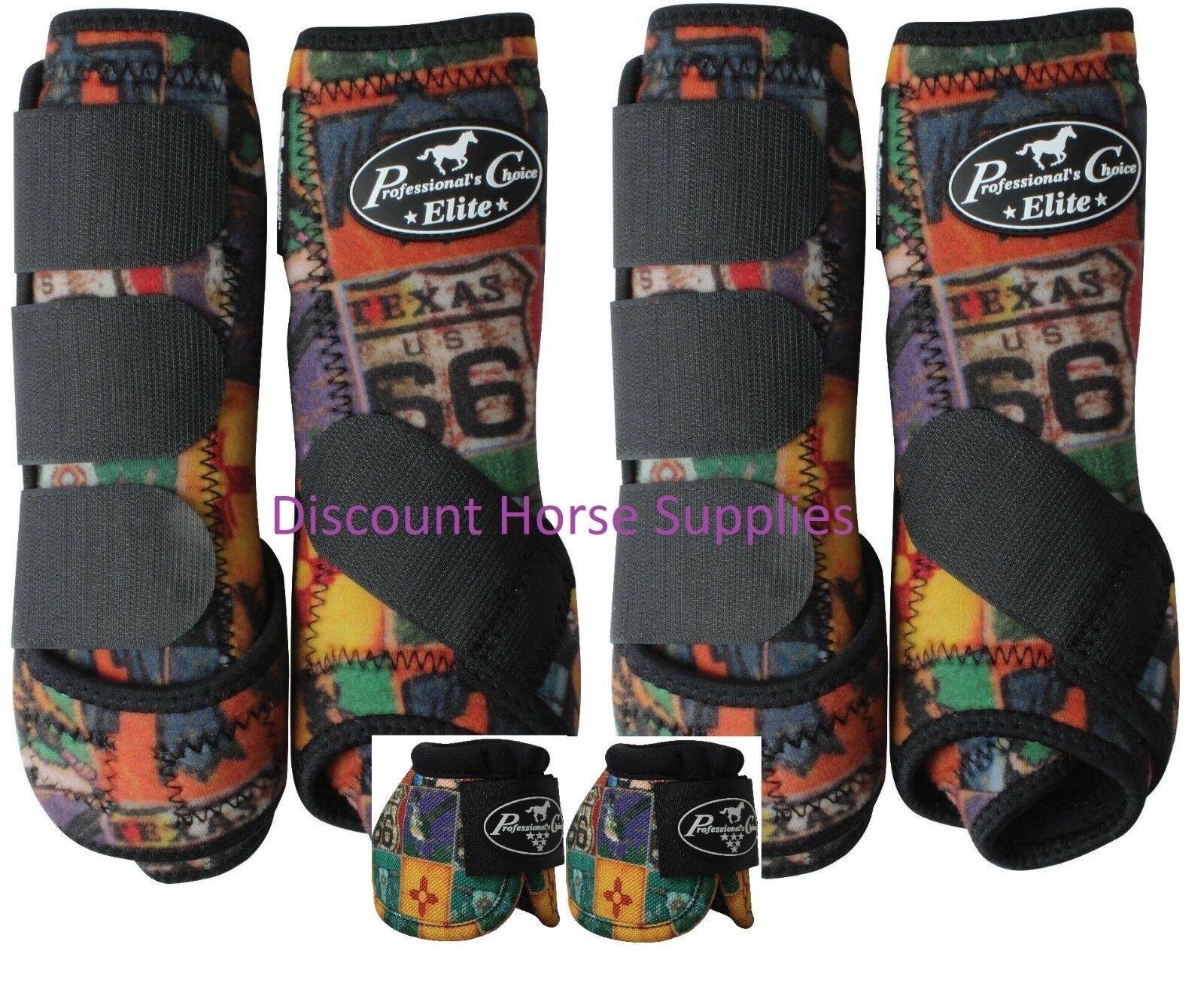 Professional's Choice Ventech Elite valor 4 Pack botas Rodeo con campanas L Pro Prof