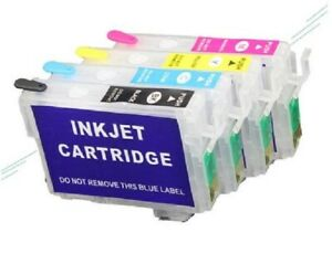 Refillable ink cartridges for Epson 68 and 69 T0681 - T0684 and T0691 - T0694