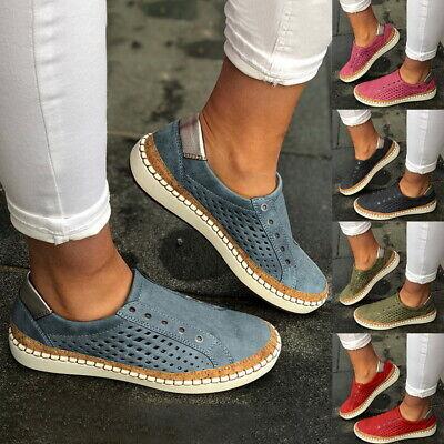 Damen Flache Halbschuhe Mokassin Schlupf Loafer Sneaker Slippers Sommer Schuh 43
