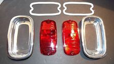 1960-1961-1962-1963-1965-1966 CHEVROLET TRUCK STAINLESS 2 TAILLIGHT W// WIRING