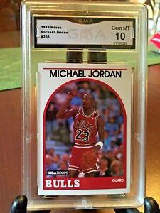 1989-90 NBA Hoops Michael Jordan CHICAGO BULLS #200 GMA 10 GEM MINT & Centered!