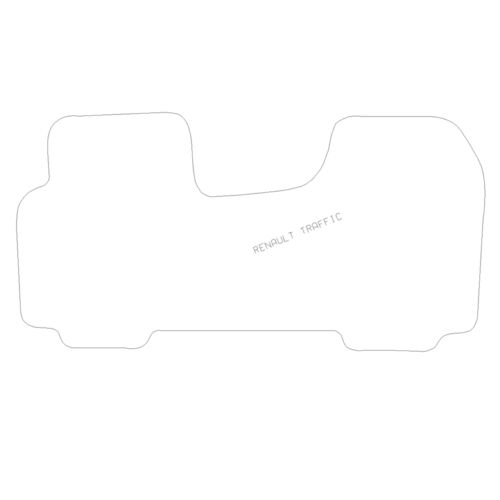 For Renault Trafic 2001-2013 Fully Tailored 1 Piece Rubber Van Front Mat