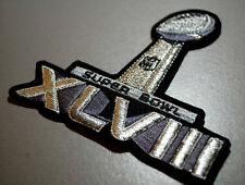 NFL SUPER BOWL XLVIII SUPERBOWL 48 JERSEY SILVER METALLIC BLACK TRIM INSIGNIA