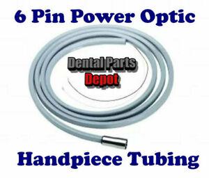 6 Pin Power Optic Dental Handpiece Tubing, 7' (Gray) (DCI #8996)