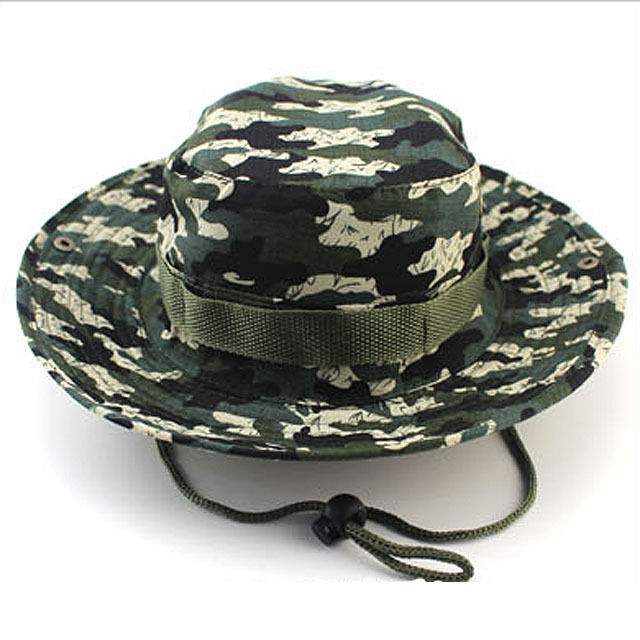 Bucket Hat Boonie Unisex Camo Cap Wide Brim Military Fishing Hunting Outdoor