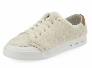 Rag-amp-Bone-Standard-Issue-Shearling-Fur-Low-Top-Sneaker-Size-39-8-8-5-New