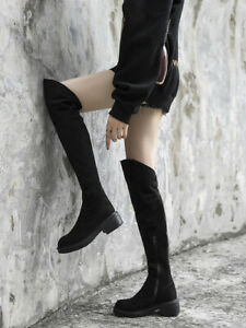 Stivali uomo pelle nera scarpe alte ginocchio anfibi