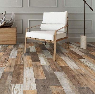 Faux Reclaimed Wood Floorwall Tile Durable Glazed Porcelain