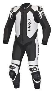 Neu-HELD-Slade-Einteiler-Lederkombi-schwarz-weiss-Kaenguruleder-Motorradkombi