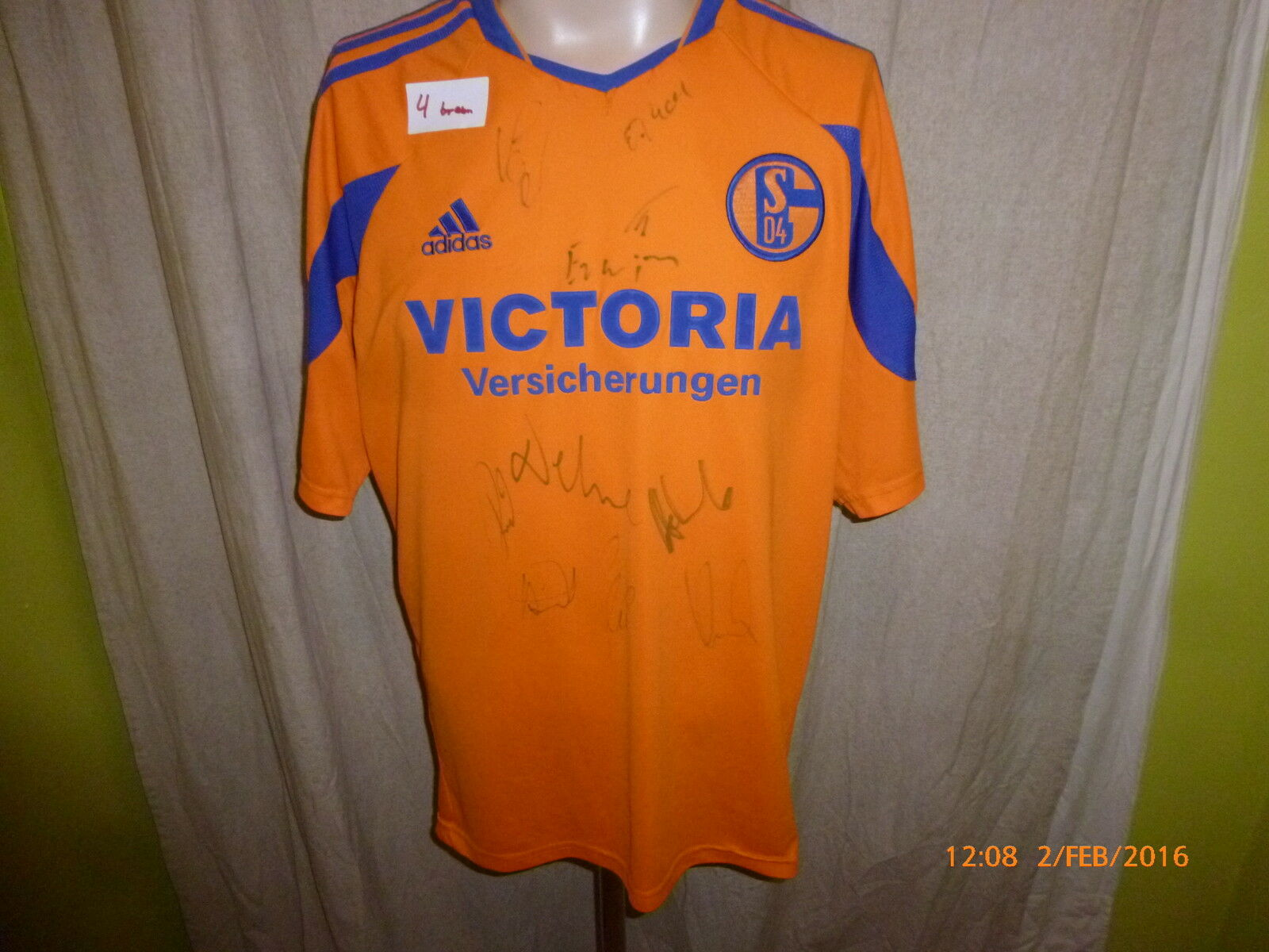 FC Schalke 04 Adidas Ausweich Trikot 2003 04  VICTORIA  + Handsigniert Gr.L