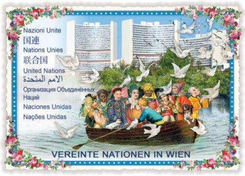 """Edition Tausendschön /""""Vereinte Nationen/"""" PK657 Postkarte Grußkarte Postcrossing"""
