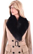 NEW BURBERRY LONDON $1,995 CAMEL CASHMERE WOOL FOX FUR COAT JACKET 14 48