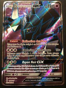 Carte-Pokemon-NECROZMA-134-147-GX-Full-Art-Soleil-et-lune-3-SL3-FR-NEUF