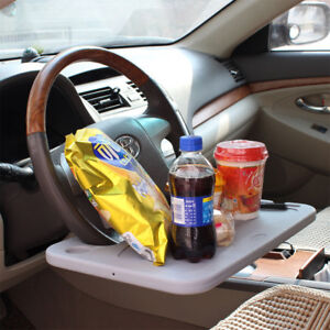 Car-Steering-Wheel-Tray-Holder-Laptop-Computer-GPS-Desk-Chair-Dining-Table-Grey