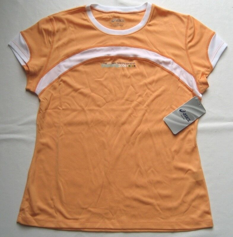 ASICS Damen Shirt - Trikot Gr. M Orange-Weiß