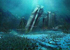 A1-Underwater-Ruins-Poster-Art-Print-60-x-90cm-180gsm-Atlantis-Water-14031