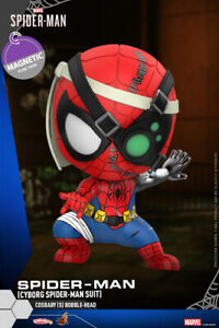 Hot-Toys-Marvel-Cosbaby-COSB773-Cyborg-Spider-man-Suit-Bobble-Head-Model-Toys