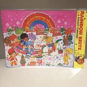 Rainbow Brite VINTAGE 80s Natale Avvento Calendario mai tolto dall'imballo