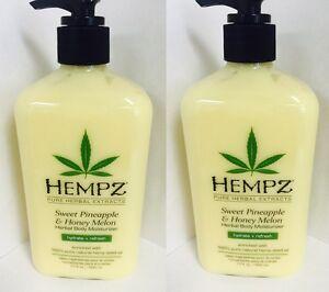 2-HEMPZ-SWEET-PINEAPPLE-amp-HONEY-MELON-Daily-Herbal-Body-Moisturizer-Lotion-17-oz
