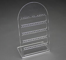 CLEAR ACRYLIC 25 PAIR DROP STUD EARRING JEWELLERY JEWELRY DISPLAY STAND RACK