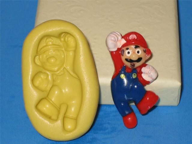 Super Mario Silicone 2D Push Mold Polymer Clay A189 Resin Topper Cake Mould Soap
