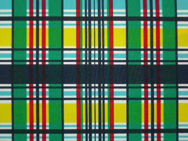 Plaid lycra fabric sport quality designer material 4W nylon spandex by the yard