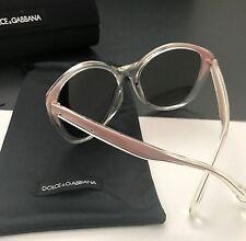 Dolce & Gabbana DG6075-M 2709/73 Clear Pink Mirrored Cat-Eye Sunglasses Italy