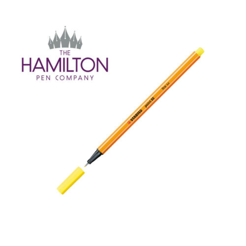 Now 47 vibrant colours available with 0.4mm tip STABILO POINT 88 FINELINER PEN