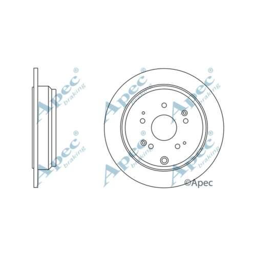 Fits Honda CR-V MK3 2.2i-CTDi Genuine OE Quality Apec Rear Solid Brake Discs Set